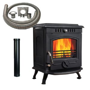Solo 8B Multifuel Stove with Installation Kit